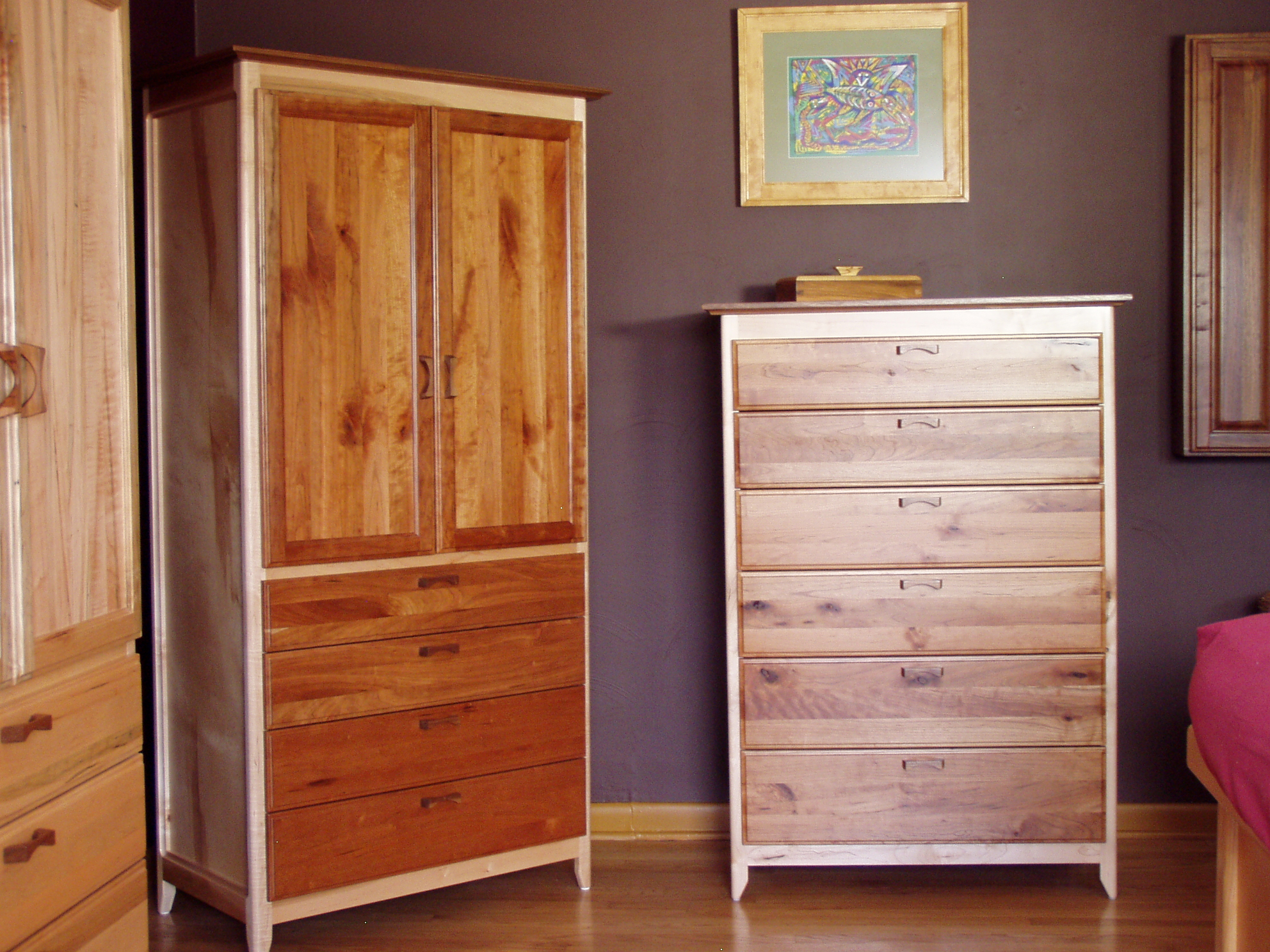 Cherry Armoire & Dresser Set